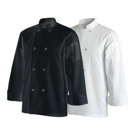 BASIC CHEF'S JACKETS LONG SLEEVE - BLACK
