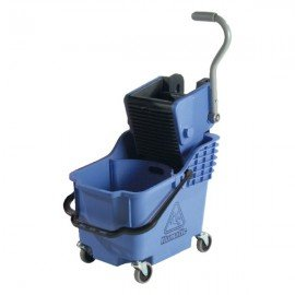 NUMATIC PLASTIC BUCKET & WRINGER - DUAL COMPARTMENT