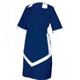 LADIES HOUSEKEEPING 3PC - NAVY AND WHITE