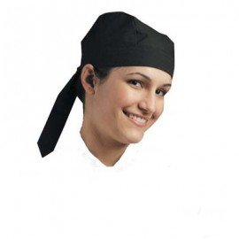 CHEFS UNIFORM - SCULL CAP - BLACK