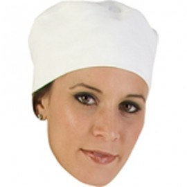 CHEFS UNIFORM  WHITE COTTON BEANIE