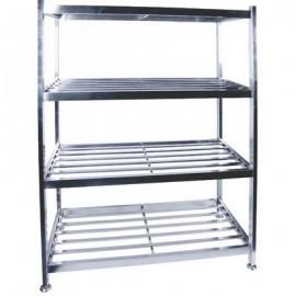 POT RACK FLOOR STANDING 1200 X 600 X 1450 S/STEEL
