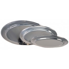 SERVING PLATTER OVAL STAINLESS STEEL