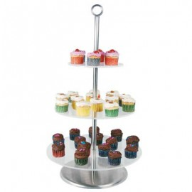 CAKE STAND CLEAR PLASTIC - 3 TIER