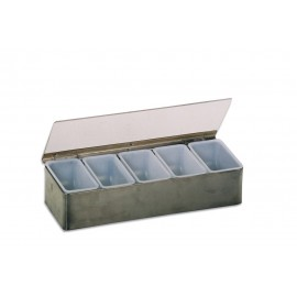 BAR CADDY - CONDIMENT HOLDER - 6 DIVISION (S/STEEL)