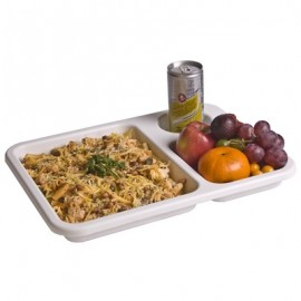 TUFF TRAY FOOD TRAY - 3 COMPARTMENTS - 345 x 264 x 33mm