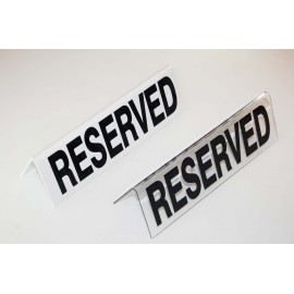 RESERVED TABLE SIGN PLASTIC