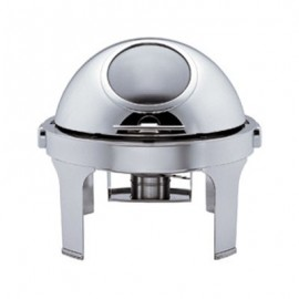 CHAFING DISH STAINLESS STEEL ROUND WITH WINDOW