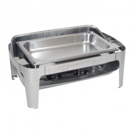 CHAFING DISH STAINLESS STEEL 180 ROLL TOP (RECTANGULAR)