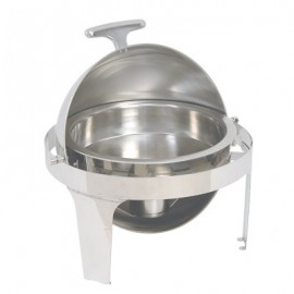 CHAFING DISH STAINLESS STEEL 180 ROLL TOP (ROUND)