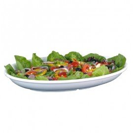 CATERING PLATTER OVAL 380mm  WHITE