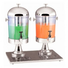 JUICE DISPENSER STAINLESS STEEL  2 BOWL
