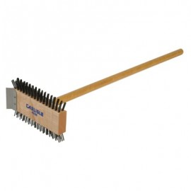 GRILL BRUSH  CARBON STEEL WITH HANDLE
