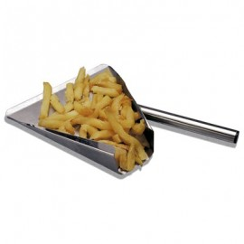 CHIP BAGGING SCOOP STAINLESS STEEL 190 x 200MM