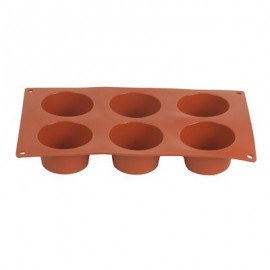 MOULD SILICONE  MUFFIN 6 CUPS 70 x 40MM