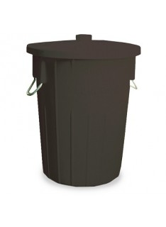 REFUSE BIN 85Lt (BLACK)  450 x 630MM  INCLUDES LID