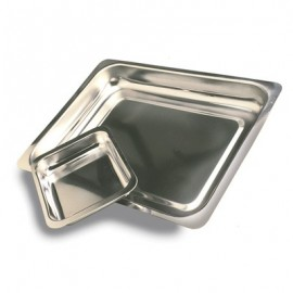 STEAK AND KIDNEY DISH S/STEEL  SK1  235 x 180 x 35mm