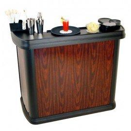 CARLISLE MIXIMISER PORTABLE BAR  CHERRY WOOD  1420W x 670D x 1230Hmm