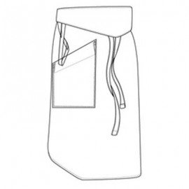 TAPPERED WHITE APRON