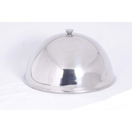 DOME CLOCHE STAINLESS STEEL - 300MM