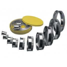 ROUND CUTTER STAINLESS STEEL  FLUTED 10 PIECE