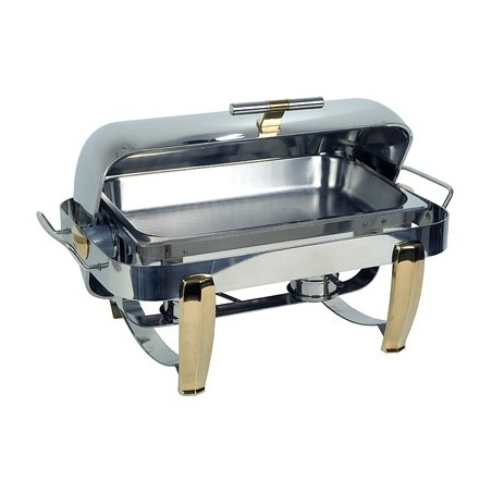 CHAFING DISH RECTANGULAR - ROLLTOP - DELUXE