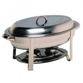 CHAFING DISH STAINLESS STEEL POLISHED (OVAL)