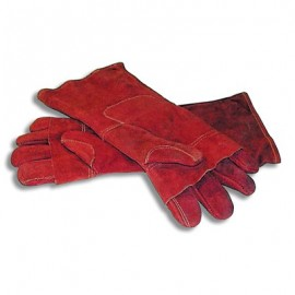 OVEN MITT RED LEATHER  400MM  PAIR