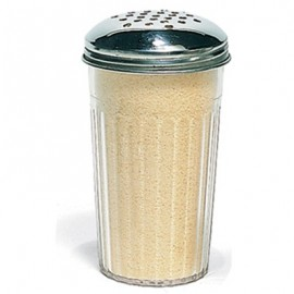 CHEESE SHAKER PLASTIC  STAINLESS STEEL LID  70 x 130MM