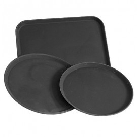 TRAY ROUND UTILITY  BLACK  400MM